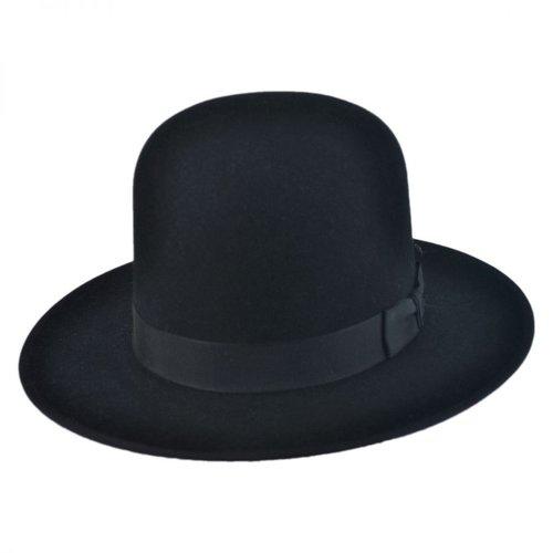 Amish Open Crown Buffalo Fur Felt Fedora Hat