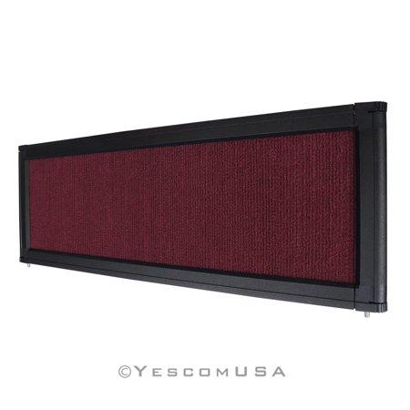 Burgundy Trade Show Display System Optional Header Panel Board Aluminum Frame Display Header Panel