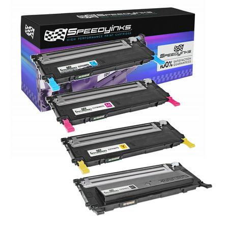 4pk Compatible for Samsung CLP-325 Laser Toner Cartridge Set CLT-K407S CLT-Y407S CLT-M407S CLT-Y407S for CLP-320N, CLP-321N, CLP-325W, CLP-326, CLX-3180, CLX-3185FW, CLX-3185N, - Samsung Clp 550