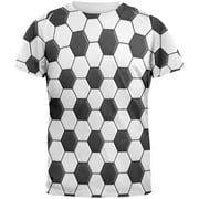 Soccer Ball All Over Adult T-Shirt - Small