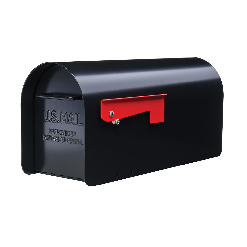 Gibraltar Mailboxes Ironside Large Capacity Heavy-Duty Galvanized Steel Black Post Mount... by Solar Group Inc.