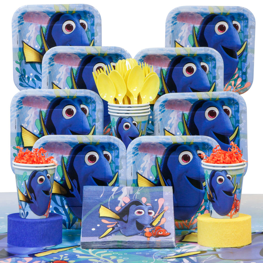 Finding Dory Deluxe Birthday Party Tableware Kit Serves 8