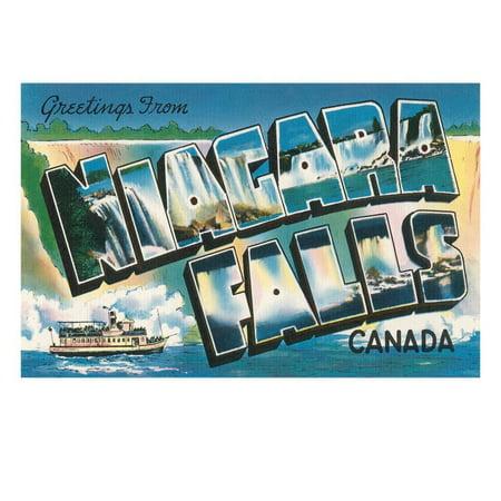 Greetings from Niagara Falls, Canada Print Wall Art](Halloween Niagara)
