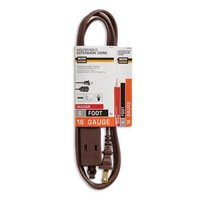 4PK Master Electrian 6' 16/2 SPT-2 Brown Cube Tap Extension Cord
