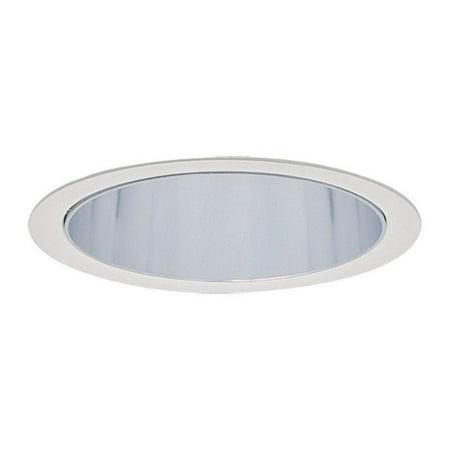 Lightolier 2013WH 3-3/4 Inch Down Light Cone Reflector Trim Round Matte White Lytecaster