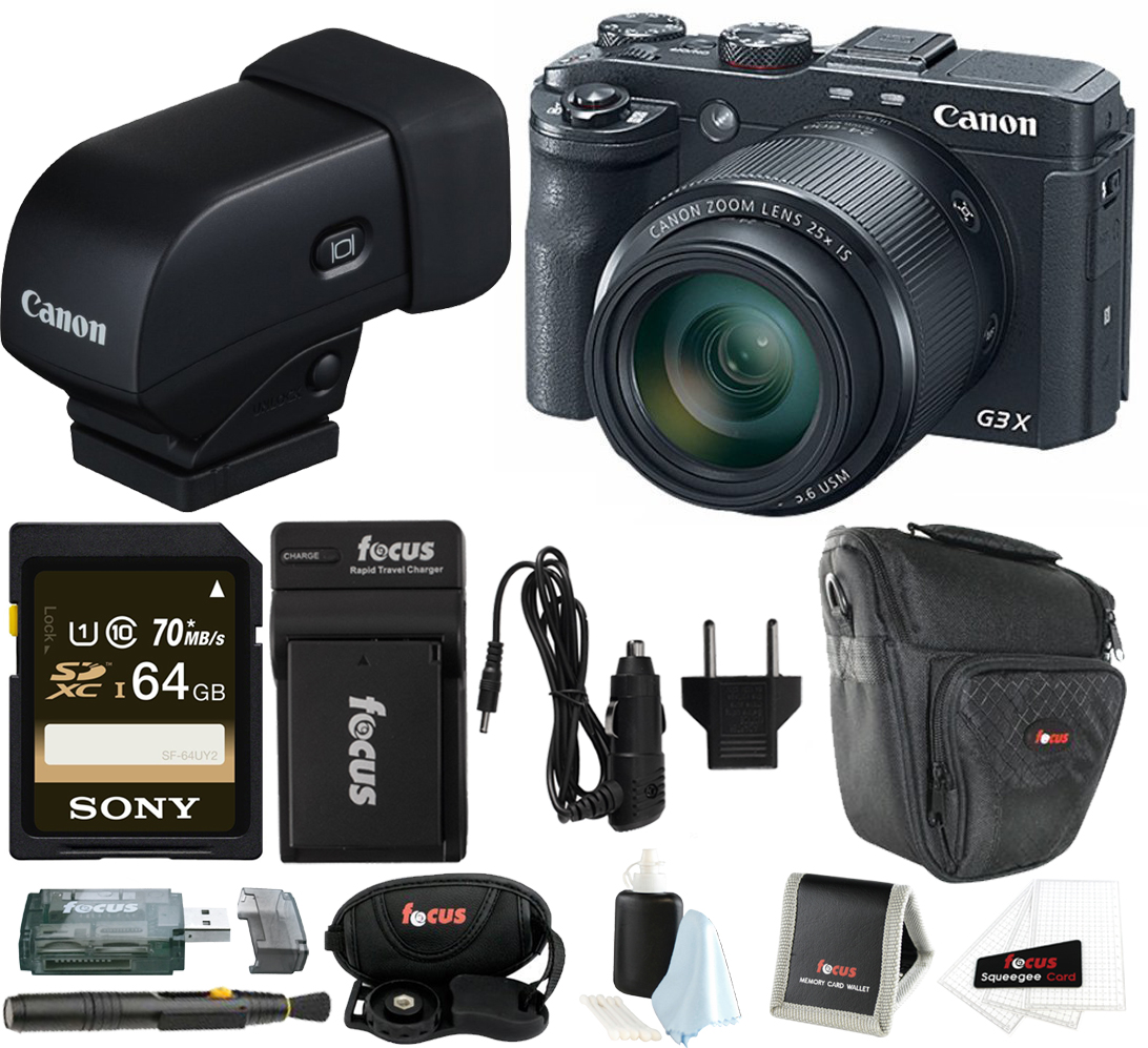 Canon PowerShot G3 X Digital Camera w/ Electronic Viewfin...