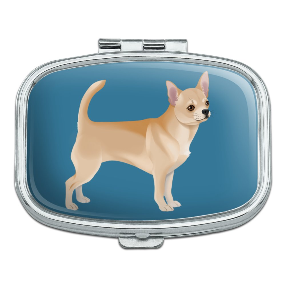 Chihuahua Dog Pet Drawing Rectangle Pill Case Trinket Gift Box