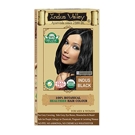 Indus Valley 100% Certified Organic Botanical Indus Black (One Touch Pack Hair Color