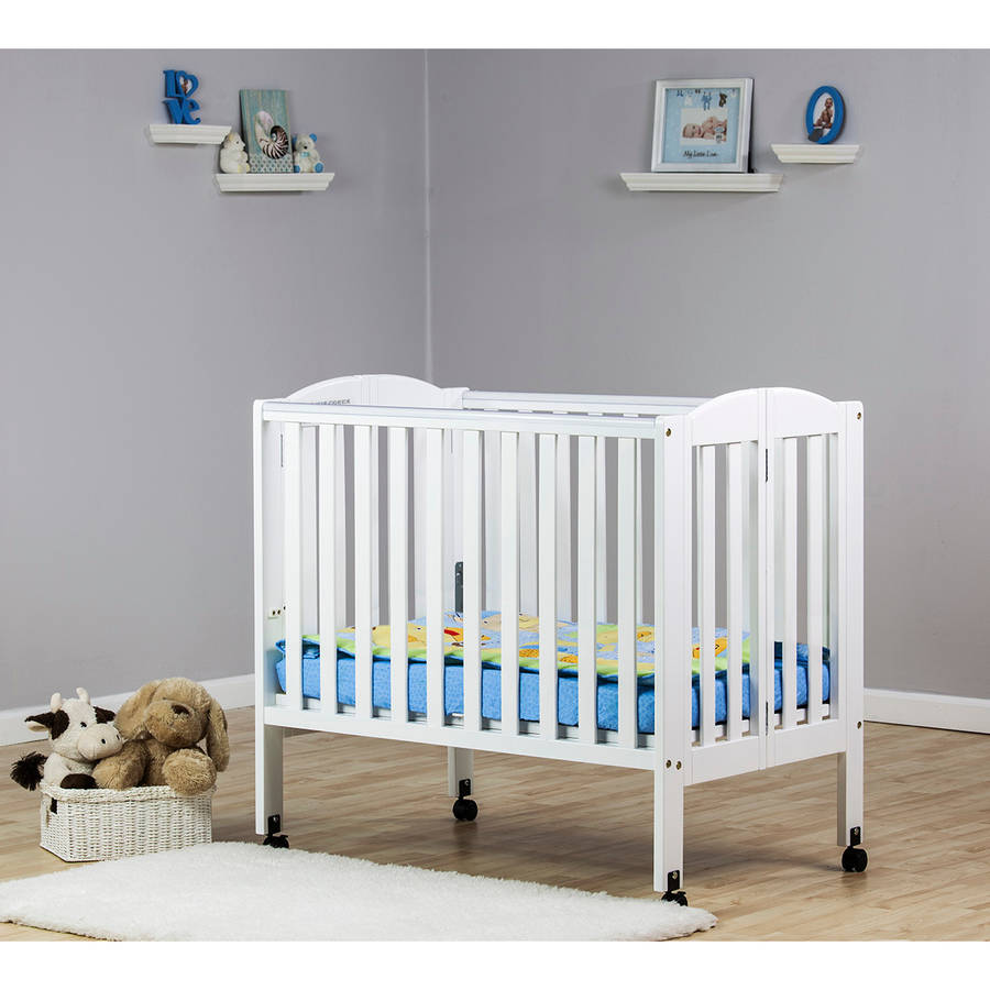 Dream On Me 2-in-1 Folding Portable Crib, White