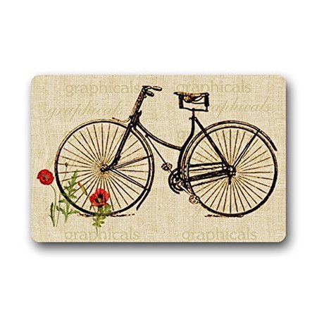 Winhome Bicycle Doormat Floor Mats Rugs Outdoors Indoor