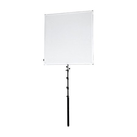 Reflector Scrim (Pro Studio Solutions 110x110cm (43.25x43.25in) Sun Scrim - Collapsible Frame Diffusion & Silver/White Reflector Kit with Boom Handle and Carry Bag )