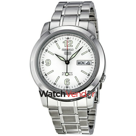 1fbc166d53f Seiko 5 Automatic White Dial Stainless Steel Men s Watch SNKE57 - image 4  ...