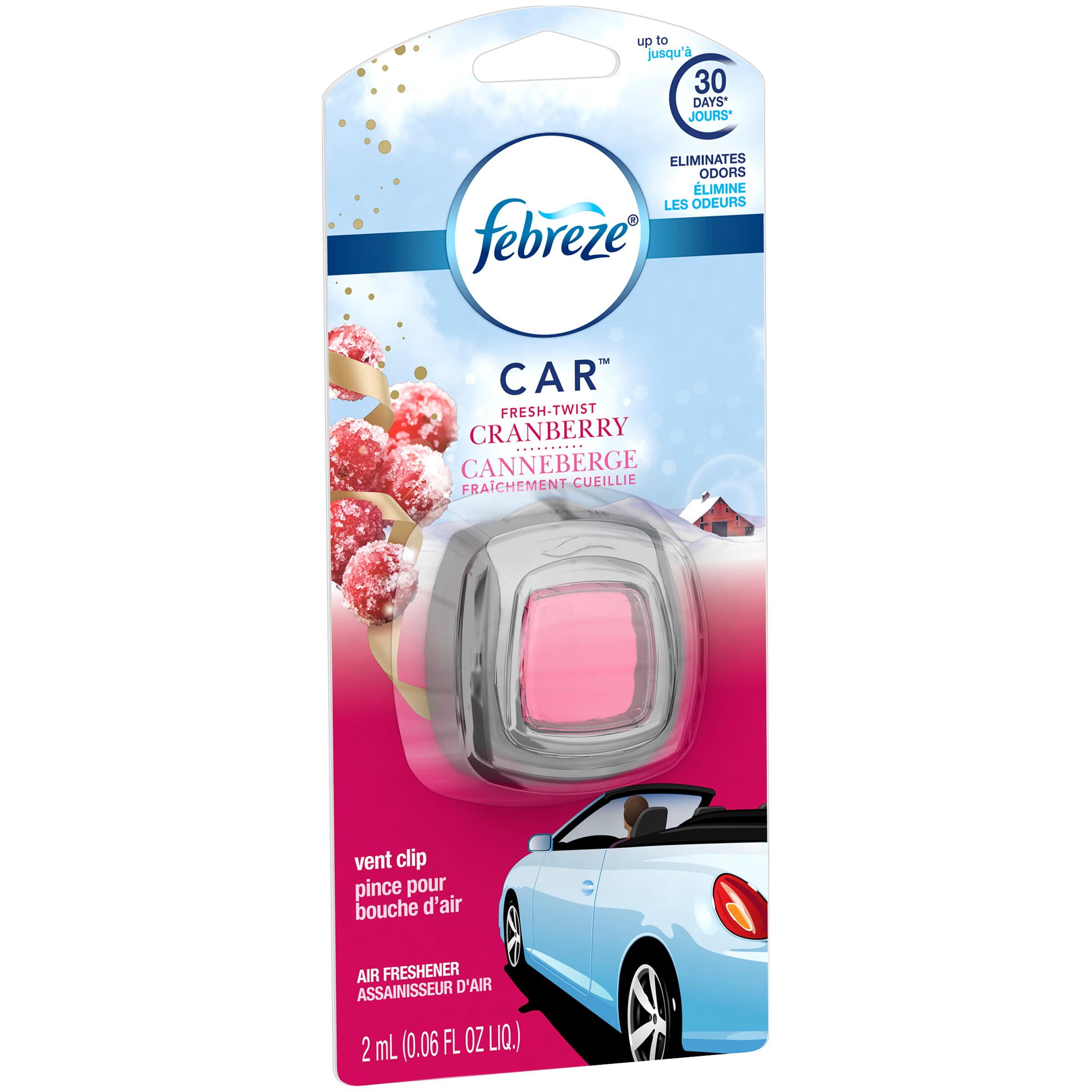 Febreze CAR Air Freshener Fresh Twist Cranberry (1 Count, 0.06 oz)