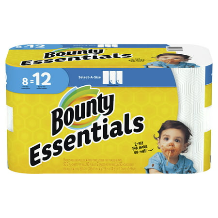 Bounty Essentials Select-A-Size Paper Towels, White, 8 Giant Rolls = 12 Regular - Halloween Crafts With Paper Towel Roll