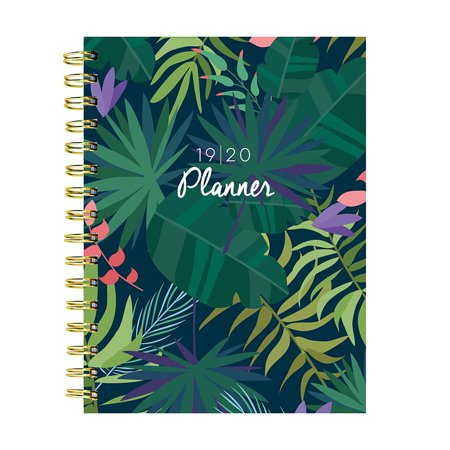 July 2019 - June 2020 Botanical Leaves Medium Daily Weekly Monthly (Best Planner Pens 2019)