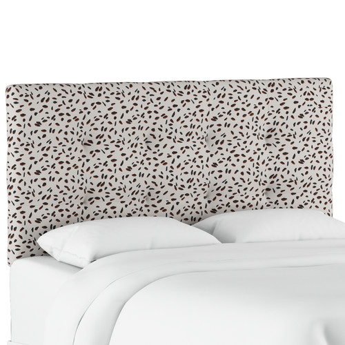 Wrought Studio Grays Ferry Tufted Neo Leo Upholstered Panel Headboard