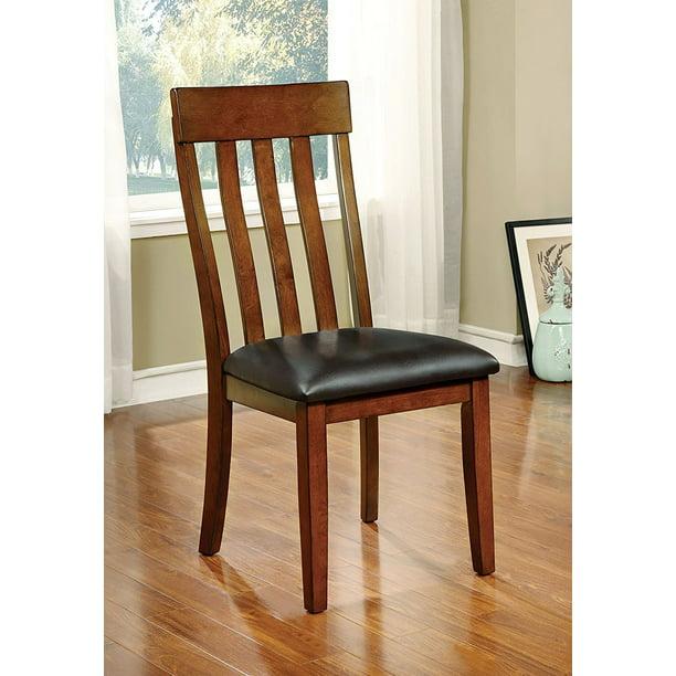 Furniture Of America Harcourt Transitional Wooden Slat Back Dining Chair Set Of 2 Walmart Com Walmart Com