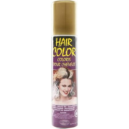 Gold Temporary Party HairSpray Hair Spray Dye Color Halloween Spray 3 - Halloween Spray Hair Color