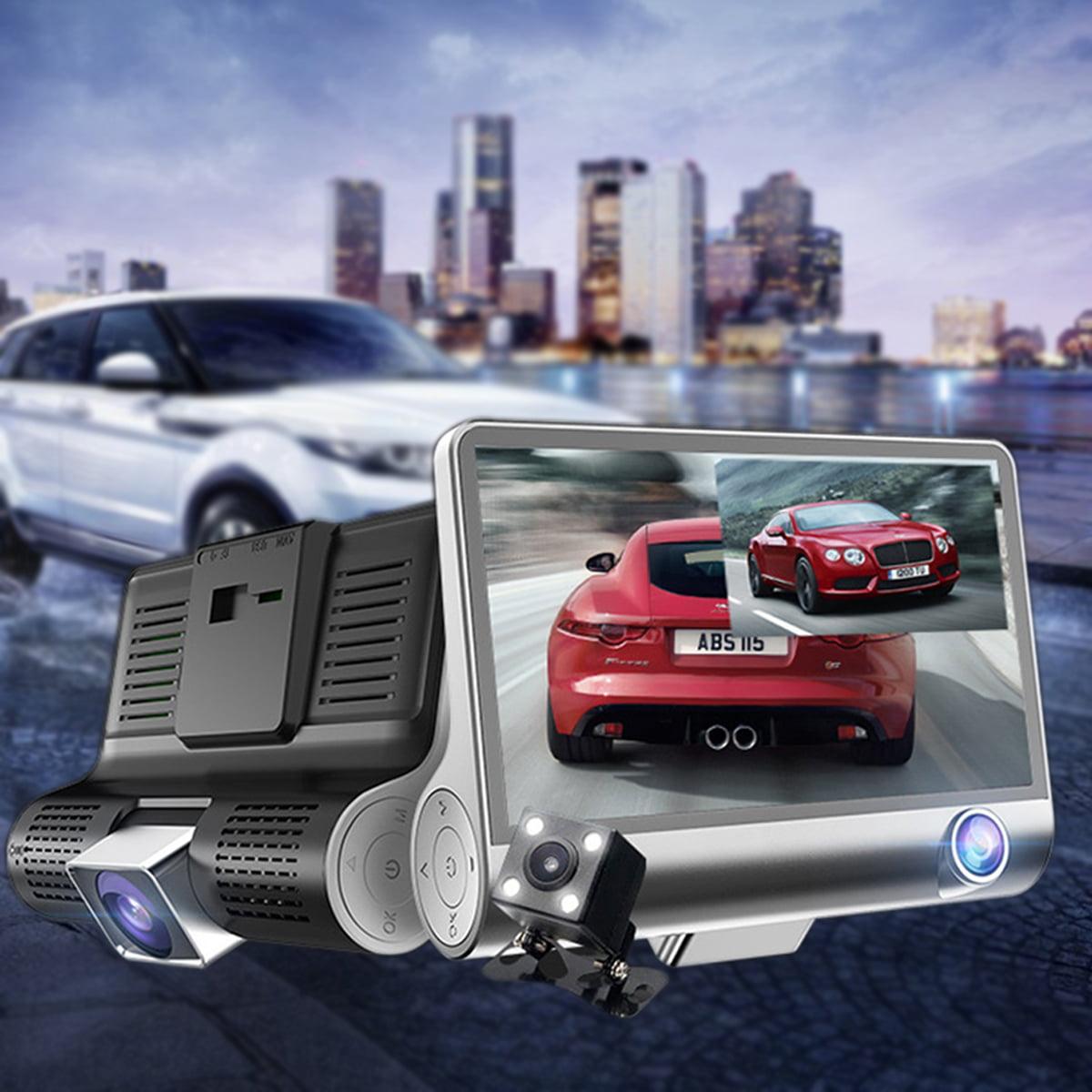 4'' HD 1080P Vehicle Car Dash Cam Dual Lens Rear Video Camera Recorder DVR