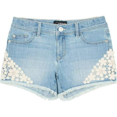 Jordache - Jordache Girls' Denim Fringe Cuff Denim Shorts ...