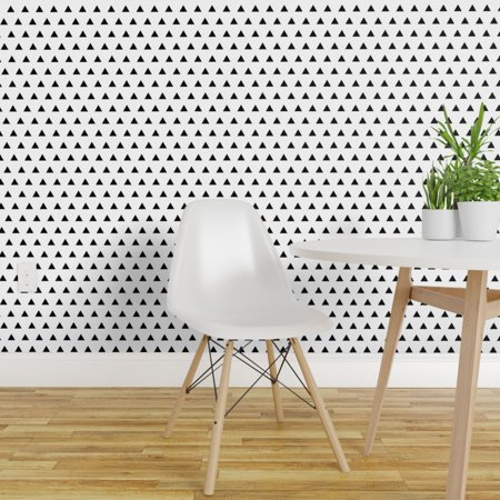 Removable Water Activated Wallpaper Black Triangles