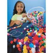 Bucket of Pom Pom Beads