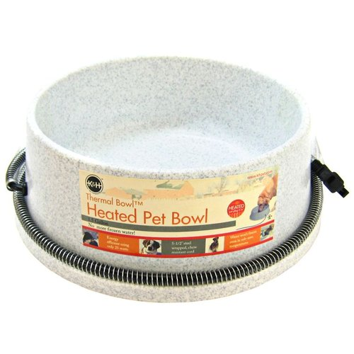 K&H Thermal Bowl Heated Pet Bowl by Heated Pet Bowls