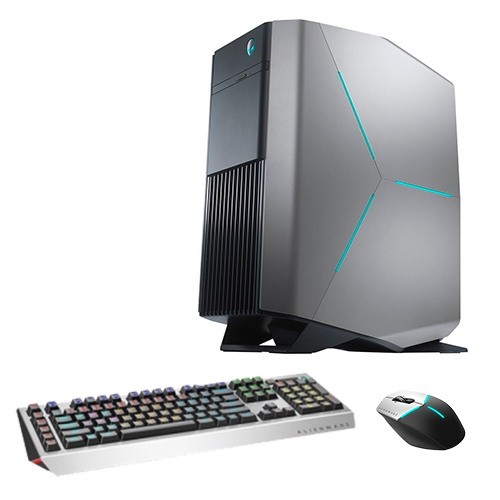 Alienware R7 Gaming Desktop Computer Intel Core i7 GeForce GTX 1070 8GB Silver Bundle  -  Pro Gaming Keyboard black & gray - Advanced Gaming Mouse black & silver - 7th Gen i7-8700 Hexa-core -
