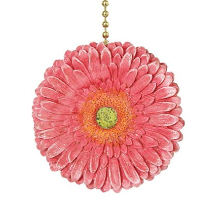 Floral Gerber Daisy Ceiling Fan Pull Chain Light Pull