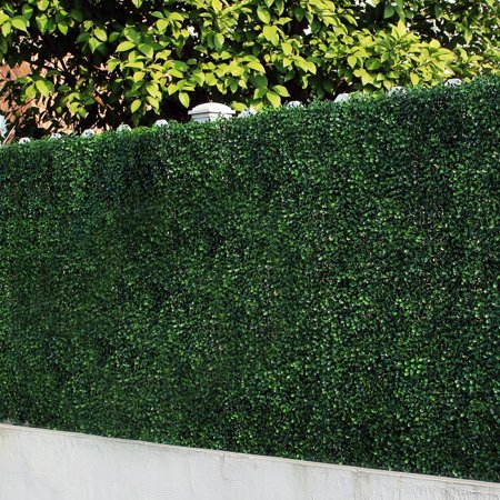 ULAND 6 Piece Artificial Boxwood Hedges, Greenery Panel, Privacy Fence Screen for Outdoor, Wall Home