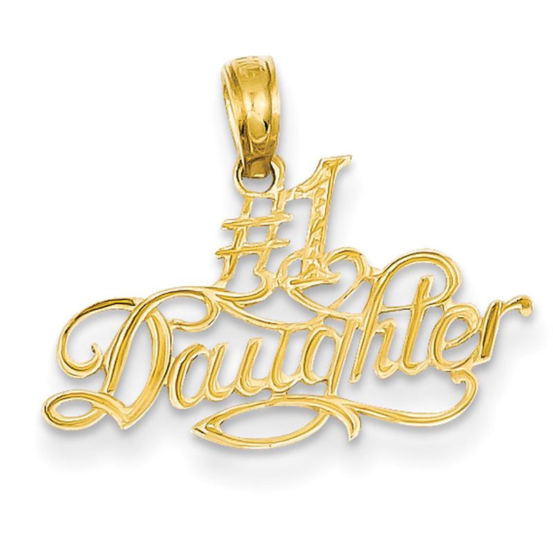 14k #1 Daughter Pendant