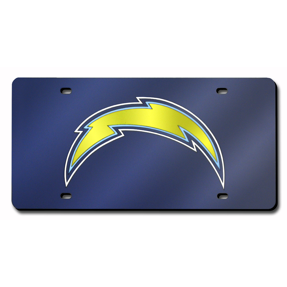 San Diego Chargers Car Accessories: San Diego Chargers NFL Laser Cut License Plate Cover