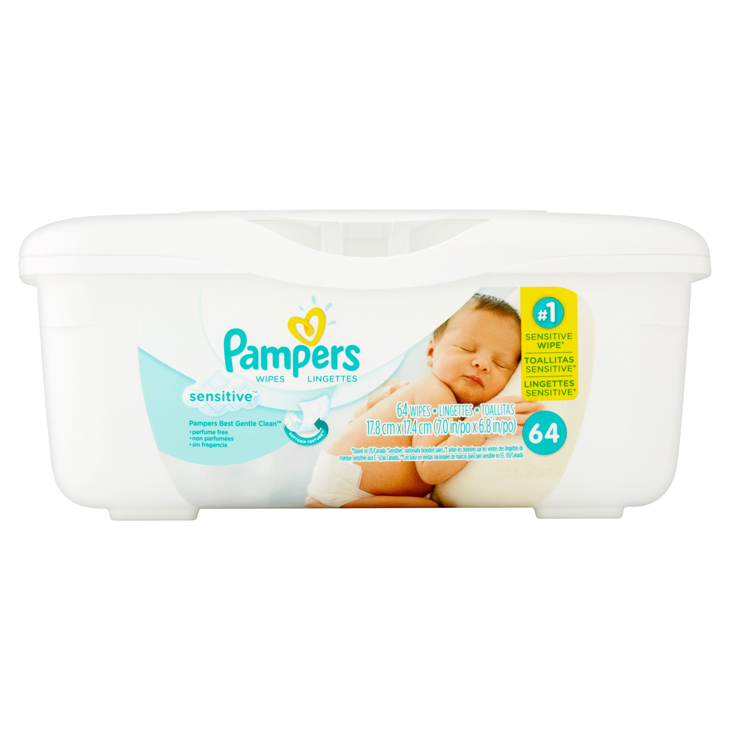 Pampers Sensitive Wipes, 64 ct