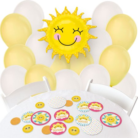 You Are My Sunshine - Confetti and Balloon Baby Shower or Birthday Party Decorations - Combo Kit