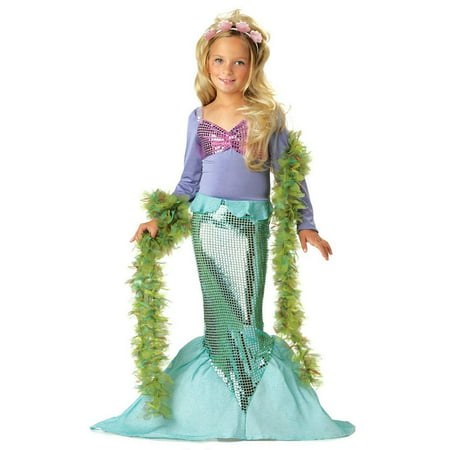 Little Mermaid Child Costume - Little Kid Costume For Adults