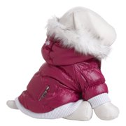 Metallic Fashion Pet Parka Coat
