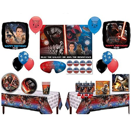 star wars the force awakens party supply and balloon bundle for 16 guests