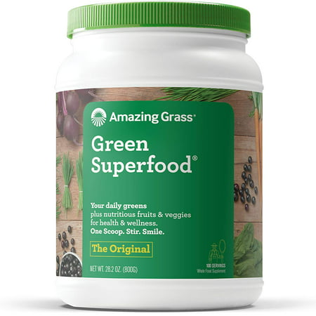 Amazing Grass Green Superfood Powder, Flavor: Original, 28 oz Bottle, 100