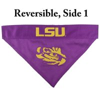 Pets First Collegiate LSU Tigers Reversible Bandana - Home & Away Mesh & Premium Embroidery for DOGS & CATS