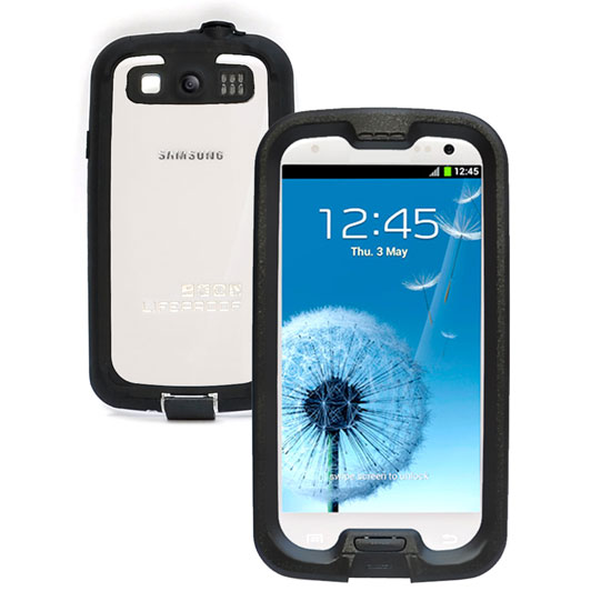 Samsung Galaxy S3 Lifeproof  Nuud Case (Black / Clear)