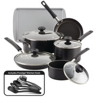 Farberware 15-Piece Easy Clean Aluminum Nonstick Pots and Pans Set/Cookware Set