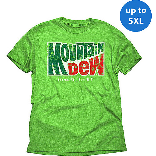 Do It To It Mountain Dew Big Men's Graphic Tee