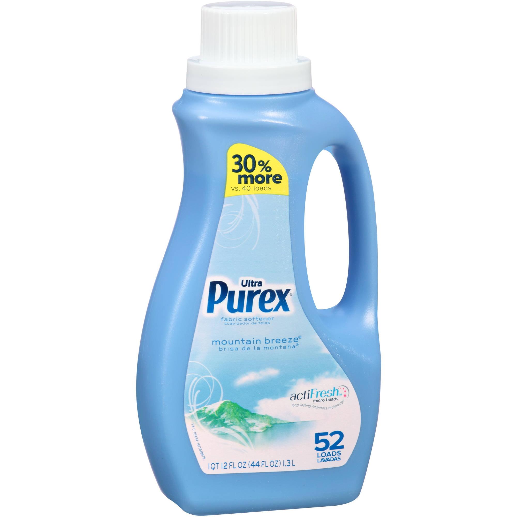 Ultra Purex Mountain Breeze Liquid Fabric Softener, 44 fl oz