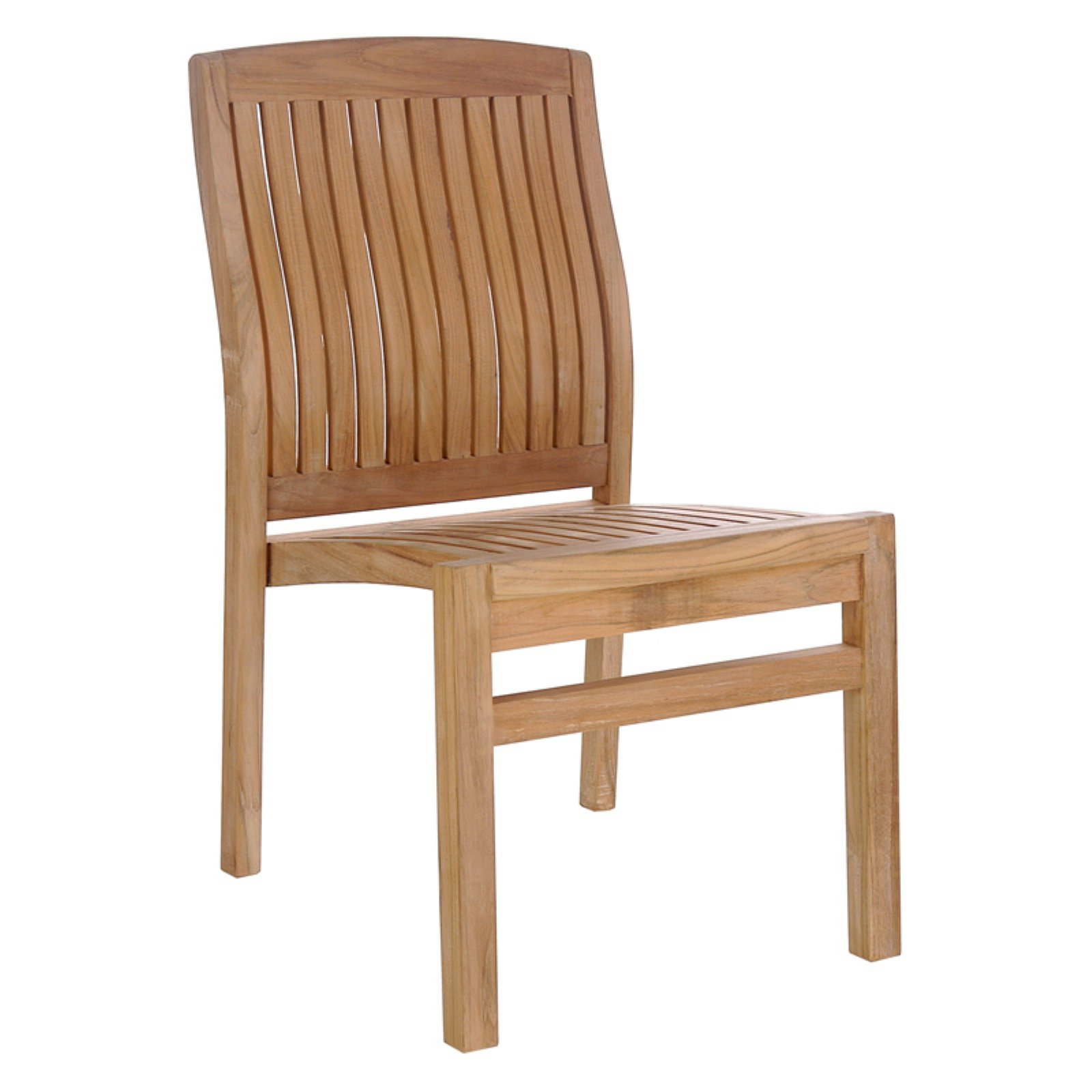 Chic Teak Belize Teak Patio Dining Side Chair by