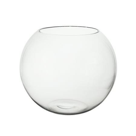 Mega Vases 85 X 7 Fish Bowl Glass Vase Set Of 1 Clear