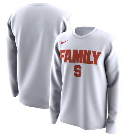 Syracuse Orange Nike March Madness Family on Court Legend Basketball Performance Long Sleeve T-Shirt - White