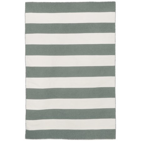 Liora Manne Sorrento Area Rugby Stripe Grey Indoor/Outdoor Area Rug