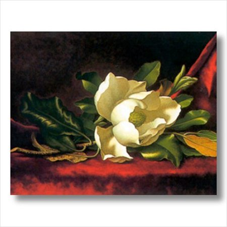 White Magnolia Flower Floral Wall Picture Art Print ()
