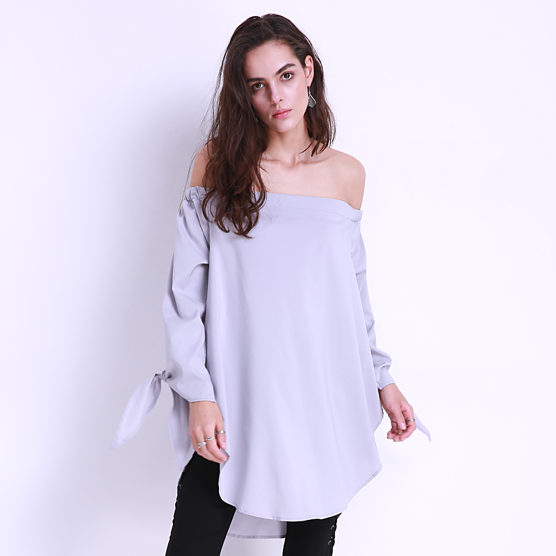 Women S Summer Long Sleeve Sexy Off Shoulder Tops Blouses Walmart Com