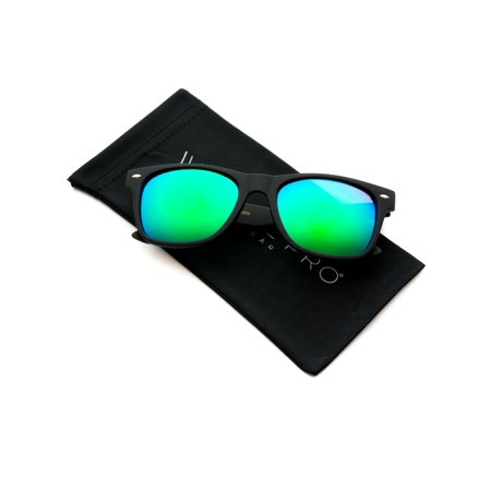WearMe Pro - Premium Square Matte Horn Rimmed Style Mirrored Lens (Which Sunglasses Look Good On Me)
